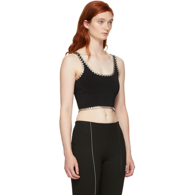 Black Eyelet Cami Tank Top Alexander Wang Clearance Low Price Fee Shipping Cheap Sale Many Kinds Of Buy Cheap 100% Authentic ZlRJINd
