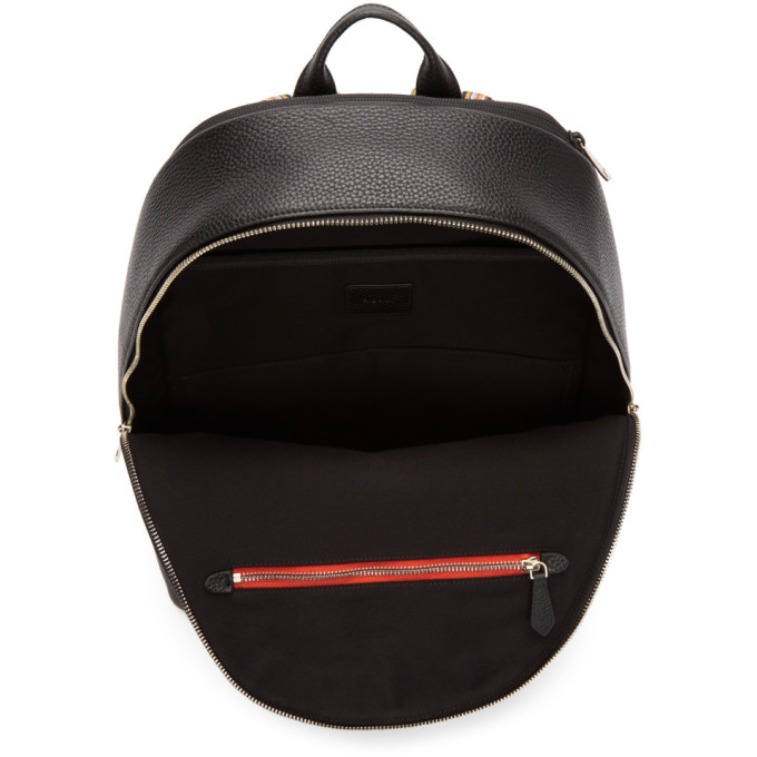 Black Leather Multistripe Backpack Paul Smith Ebay Cheap Price Discount Cheapest Geniue Stockist Sale Online Outlet Cheap Quality Sm97H9