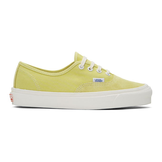 Yellow Og Authentic Lx Sneakers by Vans