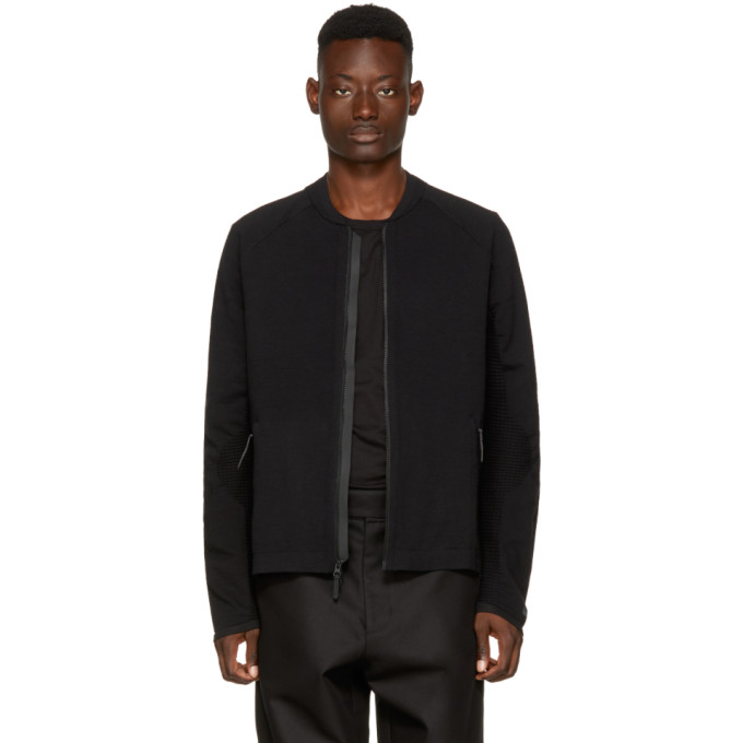 Black Nsw Tech Knit Bomber Jacket by Nike