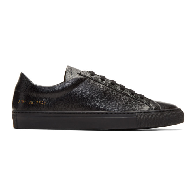 Black Achilles Low Premium Sneakers by Common Projects