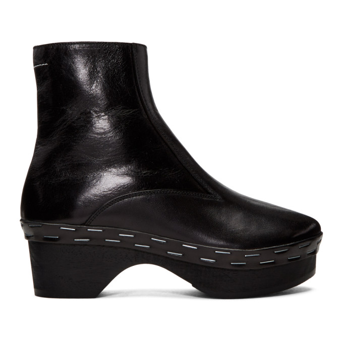 Black Clog Boots by Mm6 Maison Martin Margiela