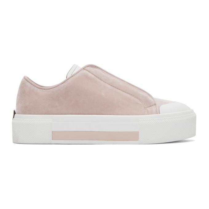Pink Velvet Sneakers by Alexander Mcqueen