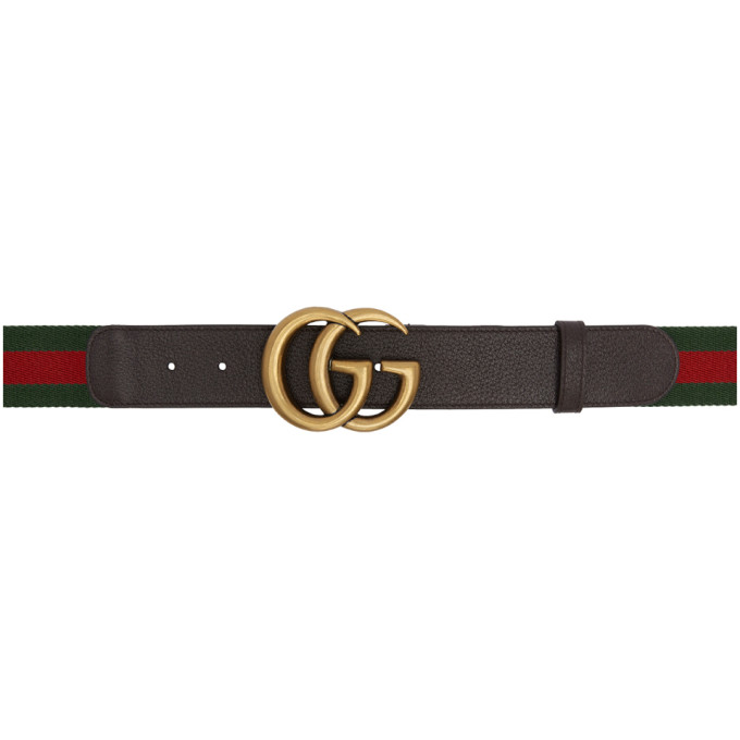 GUCCI GREEN AND RED WEB GG BELT
