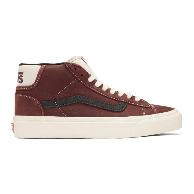 Brown Og Mid Skool Lite Lx Sneakers by Vans