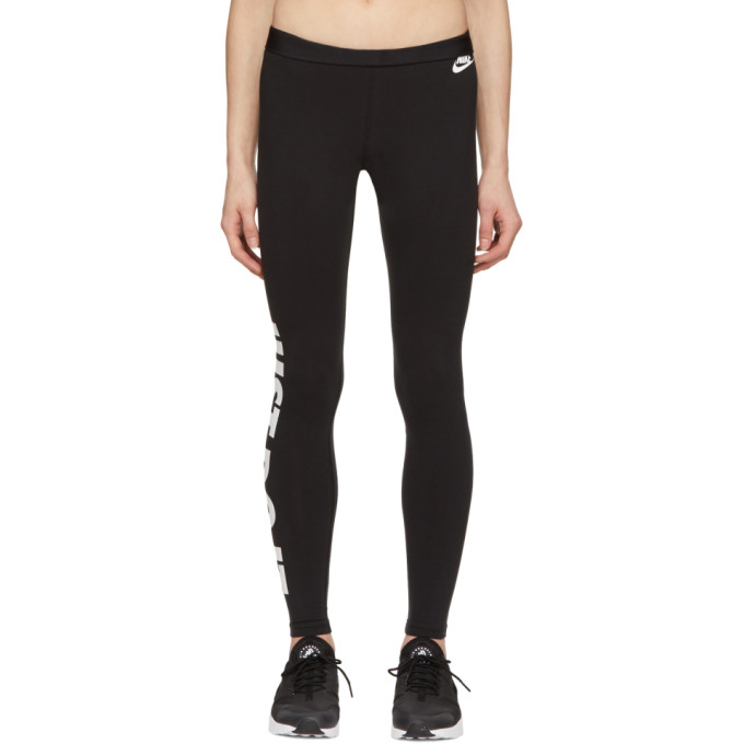 Nike  Black 'Just Do It.' Leg-A-See Leggings