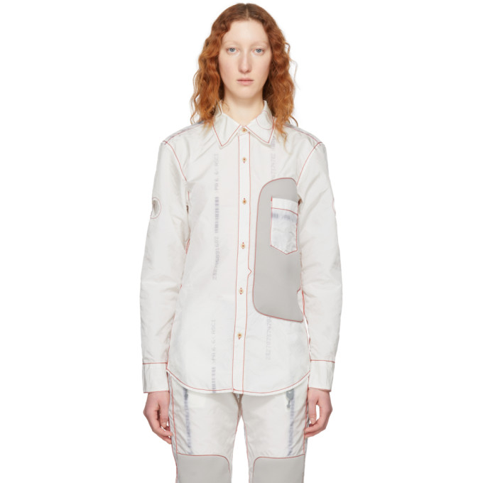 KANGHYUK Kanghyuk Off-White Sunvisor Shirt in Off White