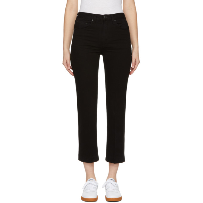 Rag And Bone Black Ankle Straight Jeans
