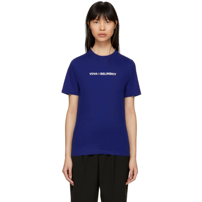 ANTON BELINSKIY Anton Belinskiy Blue Logo T-Shirt