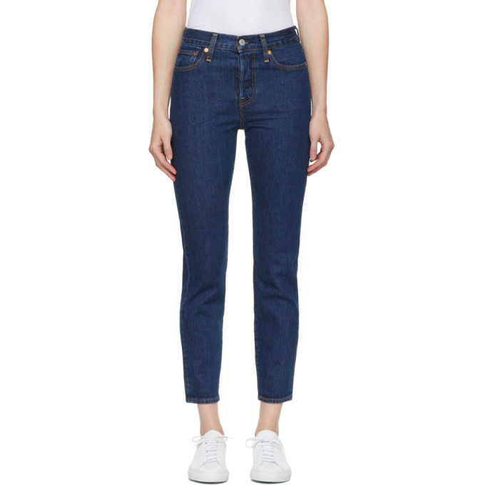 Levis Blue Wedgie Fit Jeans in 0020-Someth