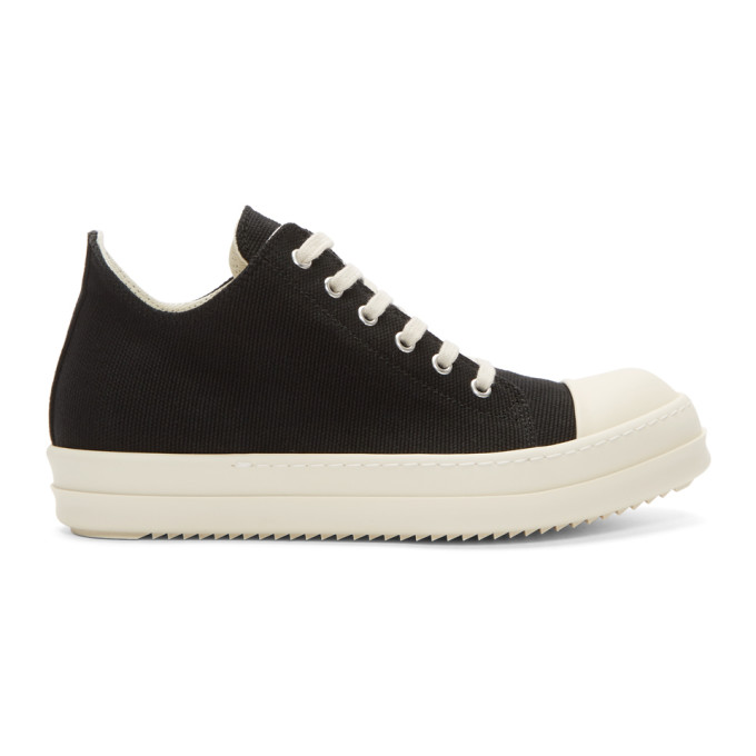 Rick Owens Canvas Low Sneakers