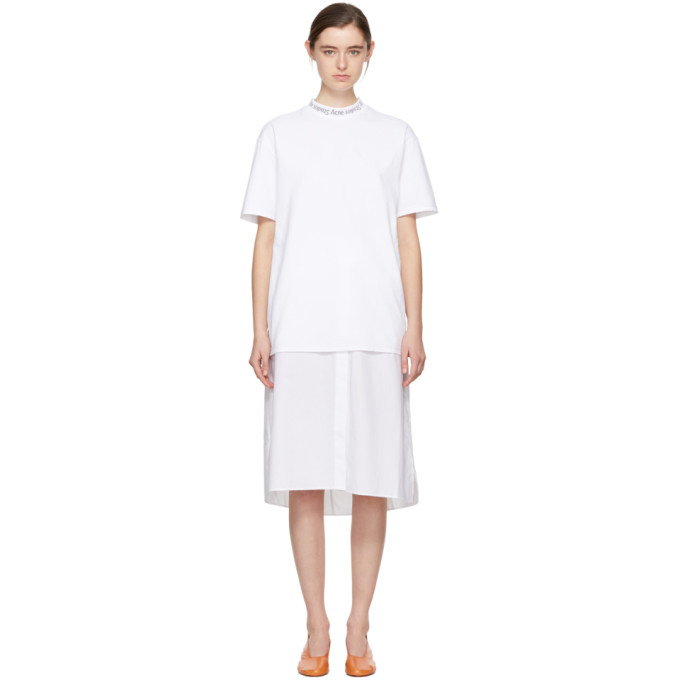 Opening Ceremony Meike Logo Neck T-Shirt in White
