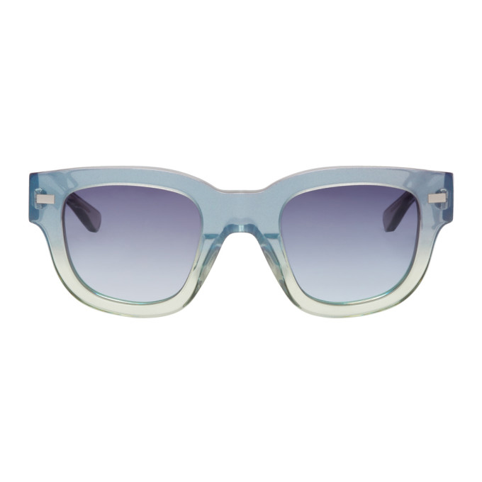 Green & Blue Frame Metal Sunglasses by Acne Studios