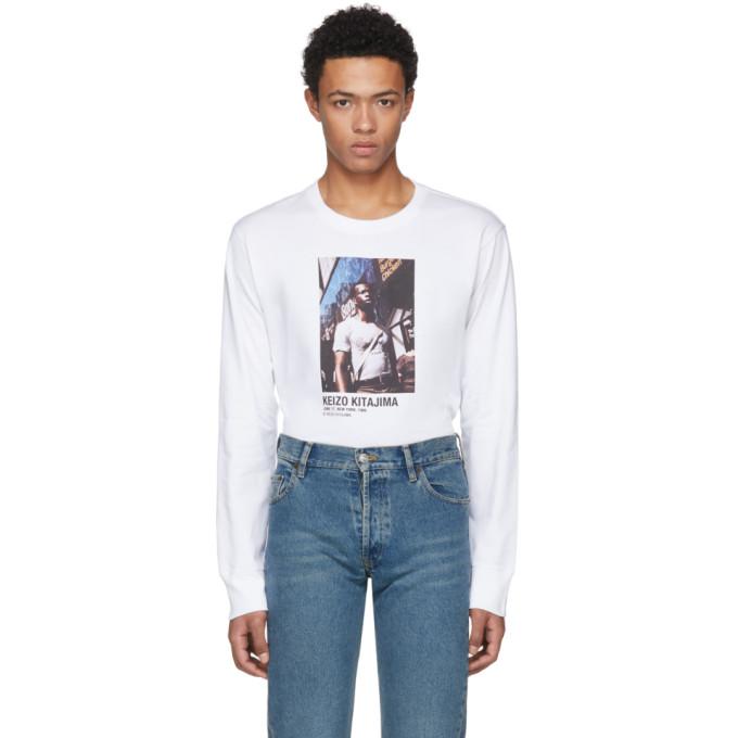 Helmut Lang  White Keizo Kitajima Edition Long Sleeve 'July 86' T-Shirt