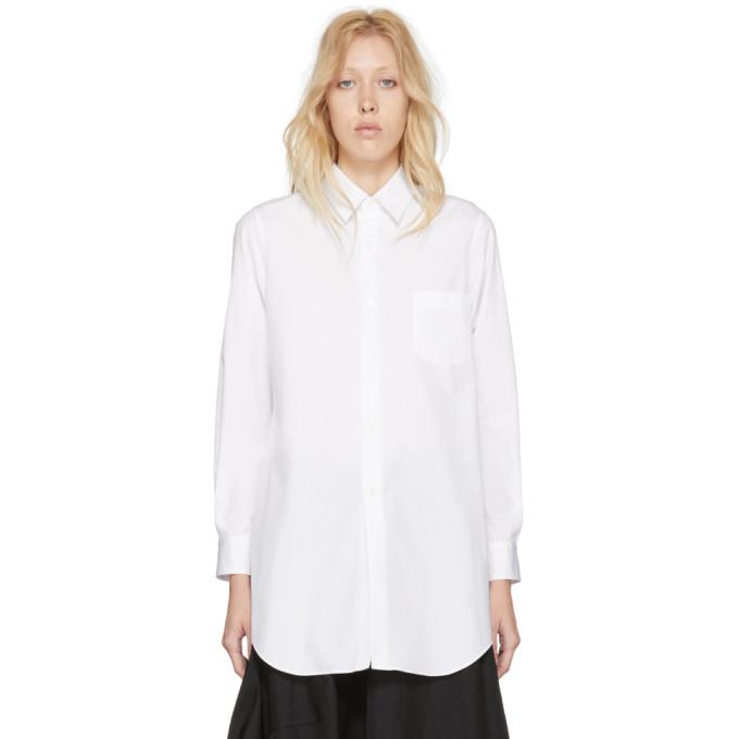 White Sculptural Sleeve Broadcloth Shirt Comme Des Garçons
