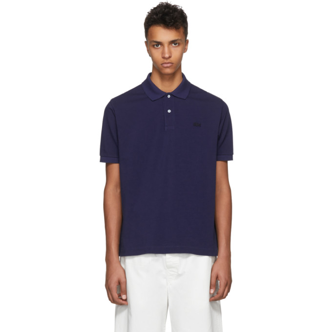 Navy Lacoste Edition Logo Polo by Junya Watanabe