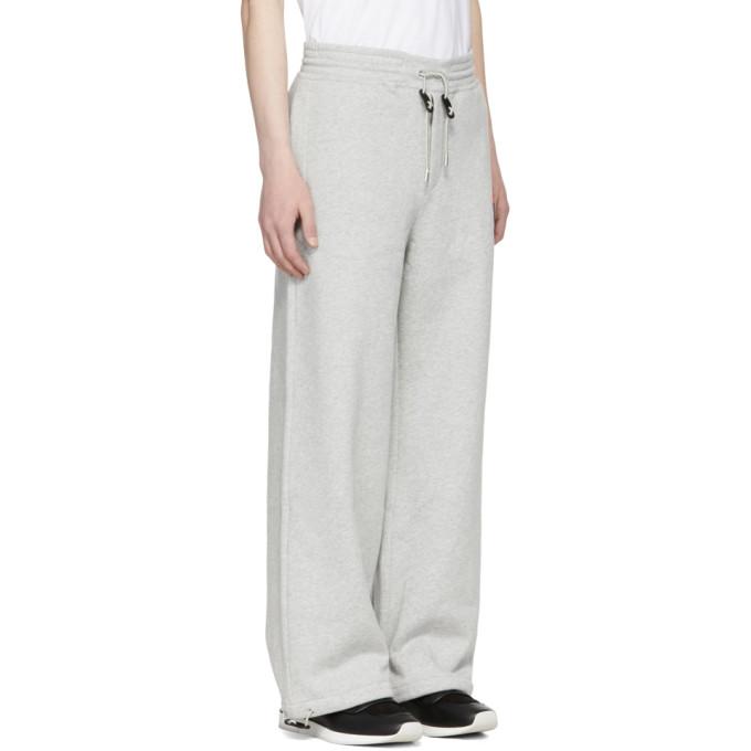 Grey Wide-Leg Skeleton Badge Lounge Pants Alexander McQueen