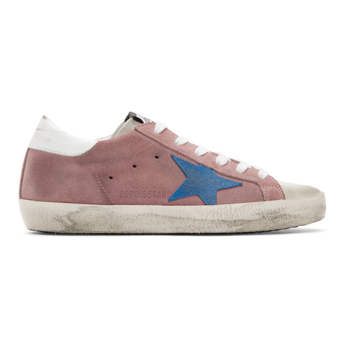 Golden Goose Suedes GOLDEN GOOSE PINK AND WHITE SUPERSTAR SNEAKERS