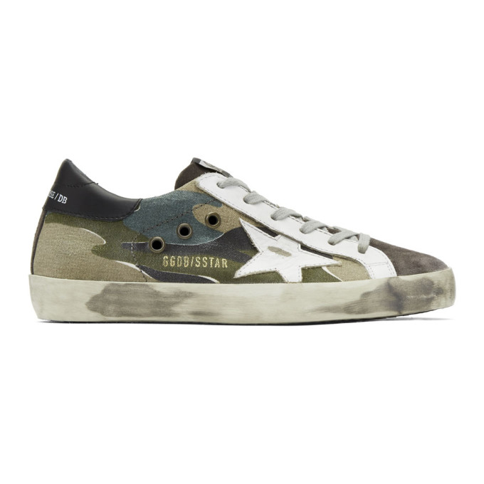Grey & White Camo Superstar Sneakers by Golden Goose