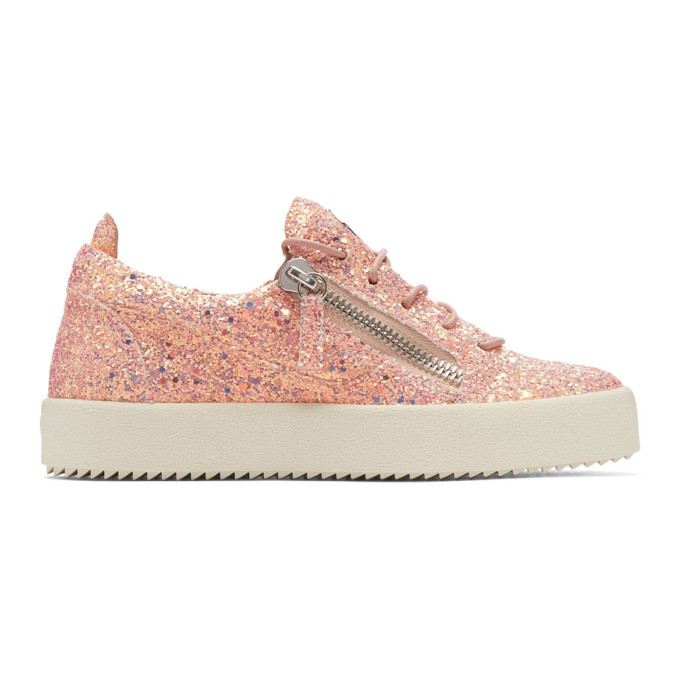 Pink Glitter May London Sneakers