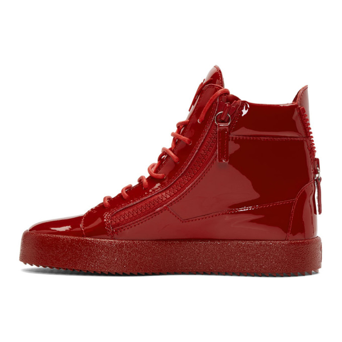 Giuseppe Zanotti Patent May London High-Top Sneakers