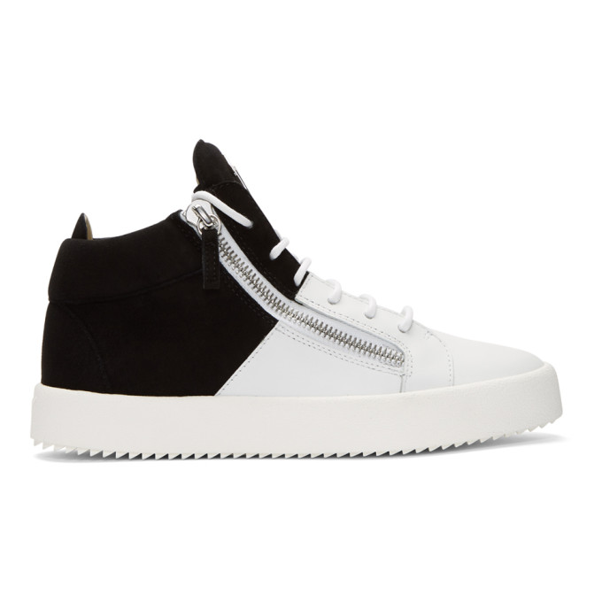 Black and White May London High-Top Sneakers Giuseppe Zanotti