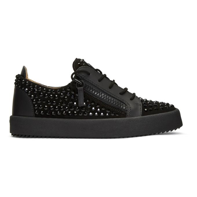 Giuseppe Zanotti Black Rhinestone May London Sneakers