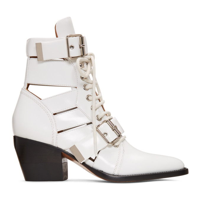 White Medium Rylee Boots by ChloÉ
