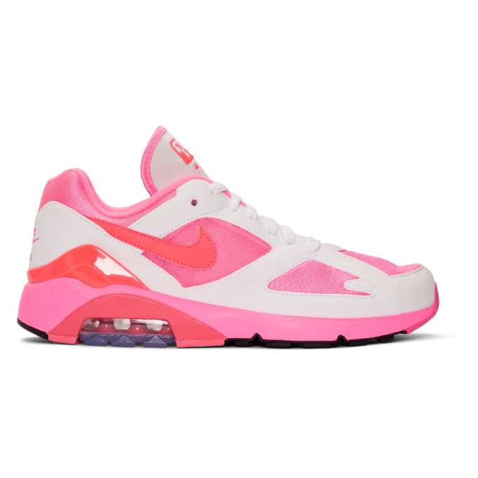 Comme Des Garcons Homme Plus White And Pink Nike Edition Air Max 180 Sneakers, 3White/Pi