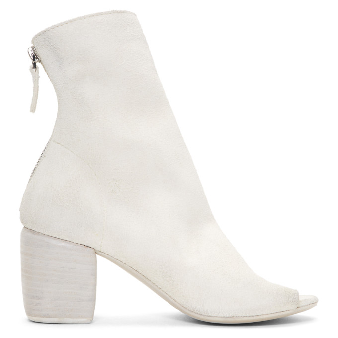 Marsell White Suede Mabo Sand Boots