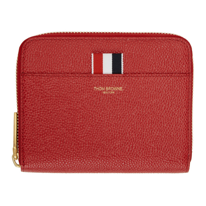 Red Short Zip Purse Wallet