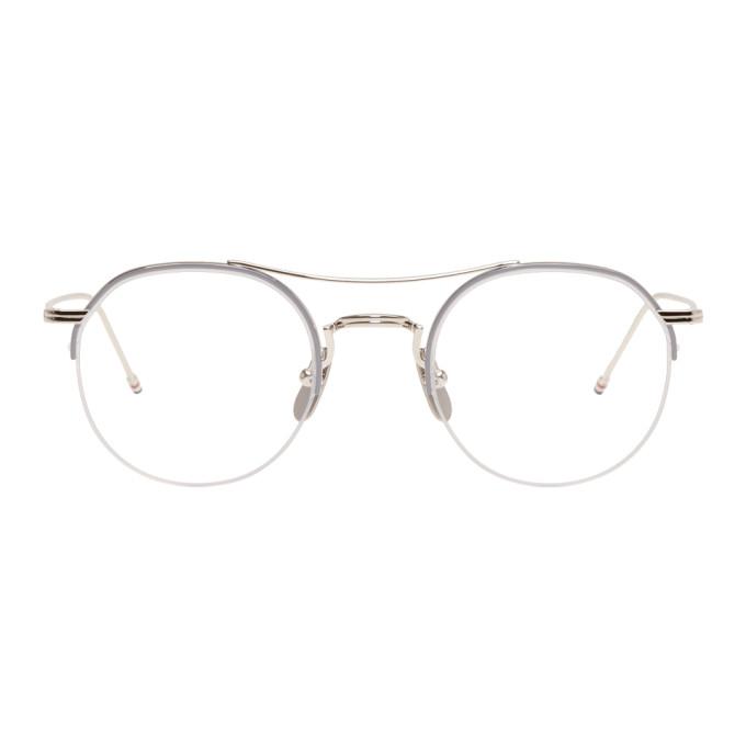 01d3a75a10 Thom Browne Silver Tb-903 Glasses