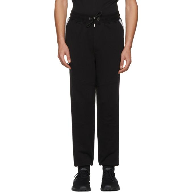 VERSUS Logo Patch Sweat Pants in Black