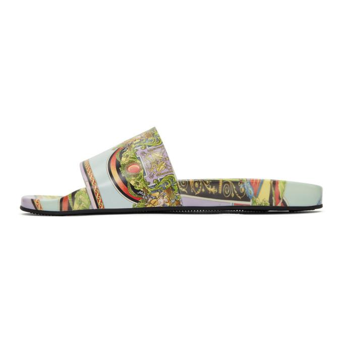 VERSACE Multicolor Angel Slides
