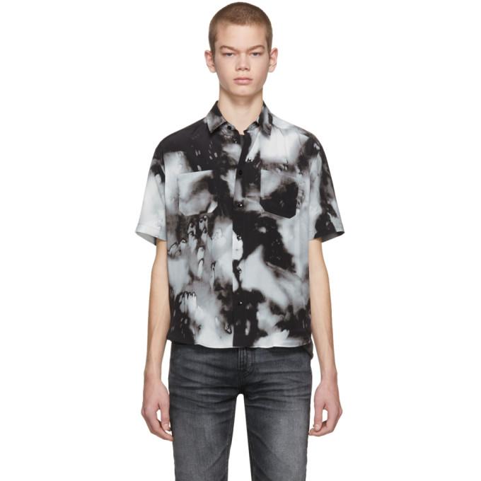Saint Laurent  Grey Silk Tie-Dye Shirt