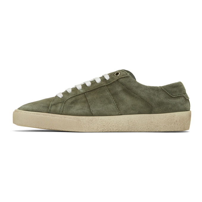 Saint Laurent Green Suede Court Classic SL/06 Sneakers