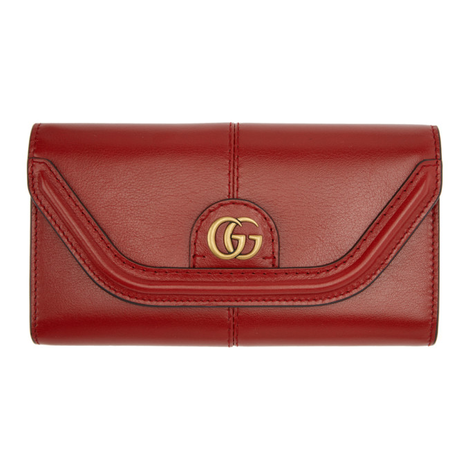 GUCCI RED GG DEFAULT FLAP WALLET