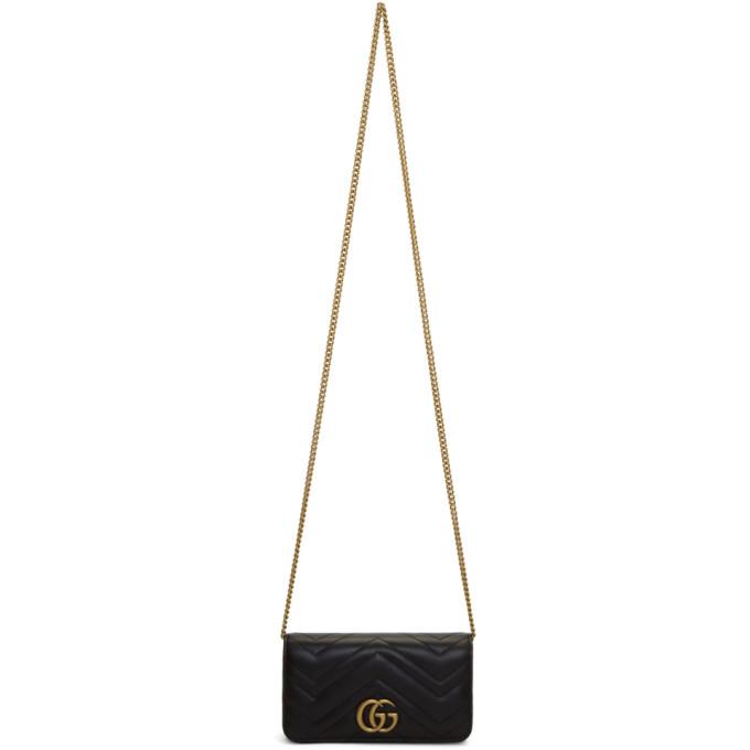 BLACK GG MARMONT 2.0 BAG