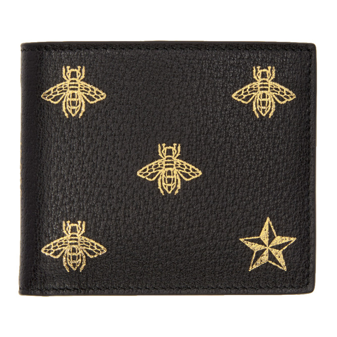 45522563dc16ae Gucci Black Bee Bifold Wallet | Stanford Center for Opportunity ...