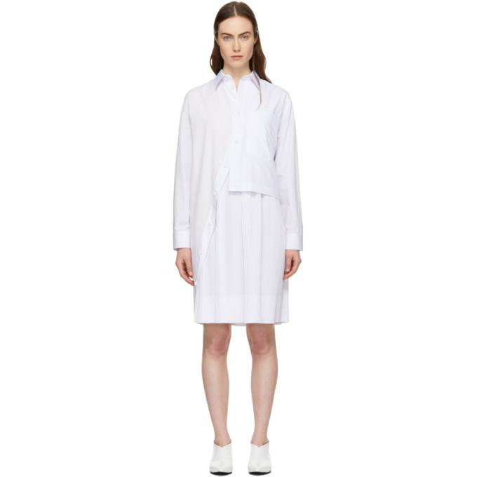Cedric Charlier White Layered Shirt Dress