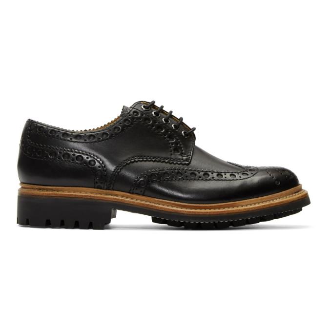 Archie Leather Wingtip Brogues - BlackGrenson