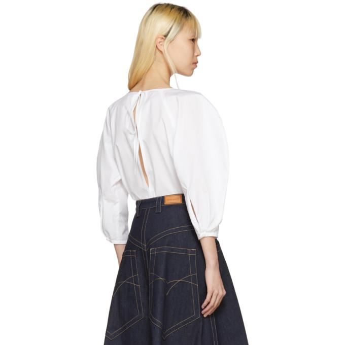 White Button Down Blouse Nina Ricci