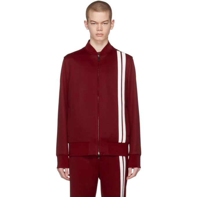 Red & White Striped Track Jacket by Valentino