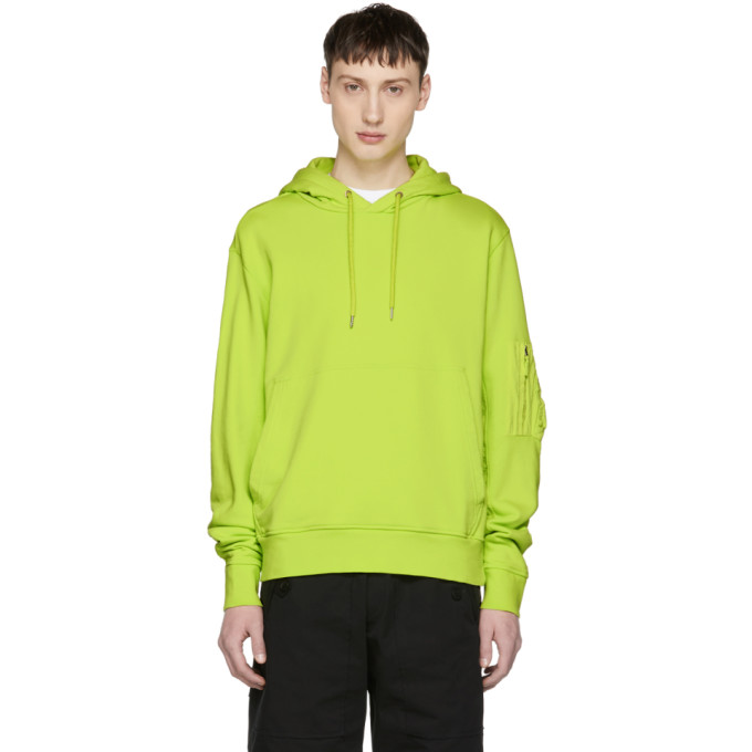 TIM COPPENS Marking Equipment Hoodie in Acid Yellow