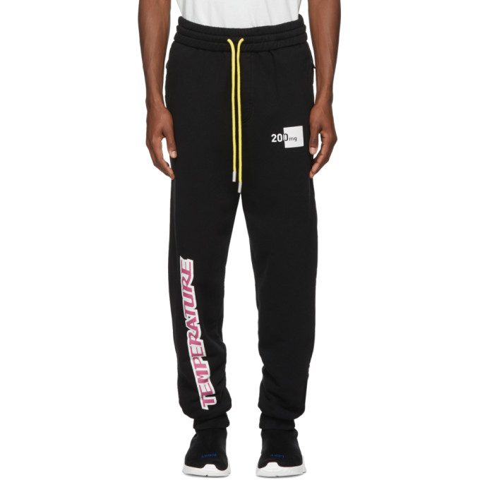 Black 'temperature' Lounge Pants by Off White