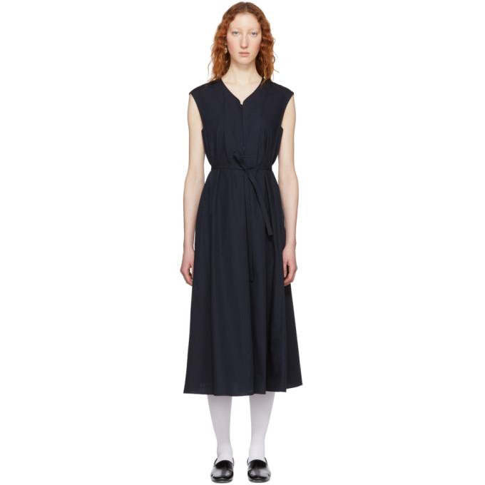Lemaire  LEMAIRE BLUE SLEEVELESS DRESS