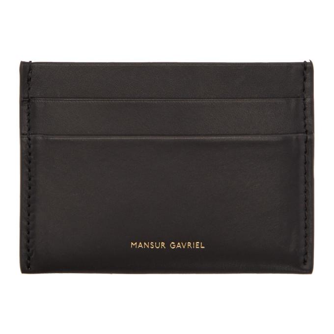 MANSUR GAVRIEL BLACK CREDIT CARD HOLDER