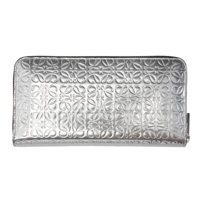 Silver Anagram Zip Around Wallet Loewe