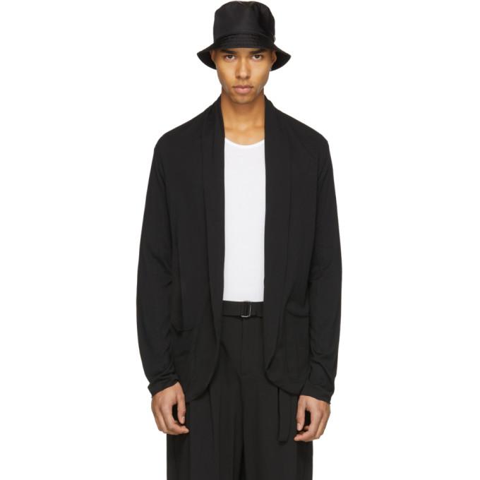 Black Cotton Cardigan by Attachment