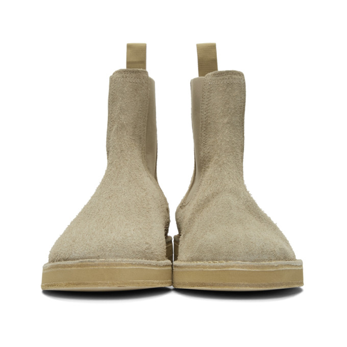 14a99f77ea0 Yeezy Shaggy Suede Chelsea Boots In Grey In Neutrals